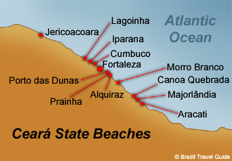 Fortaleza Ceara Brazil Map Region