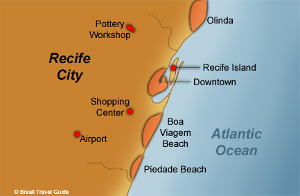 Recife and Olinda map